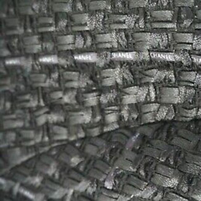 SEWN IN MY ATELIER JACKET ARTWORK FABRIC TWEED &BUTTONS & LINING CHANEL Black Jacket Image 4
