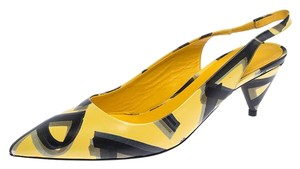 Burberry Leather Slingback Pointed Toe Yellow Sandals