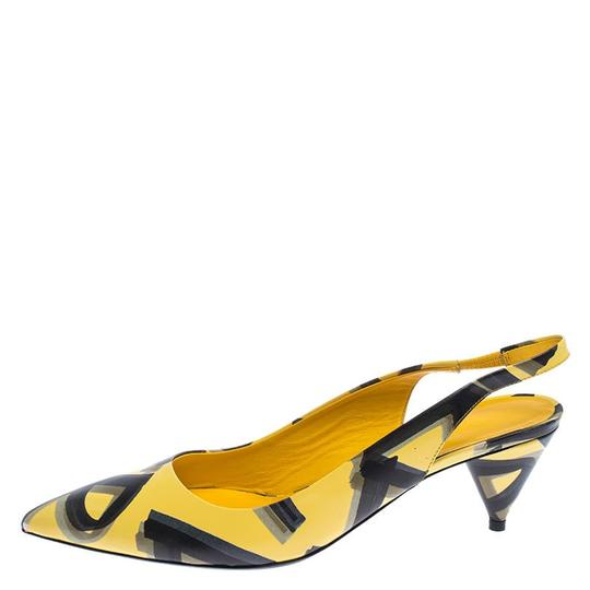 Burberry Leather Slingback Pointed Toe Yellow Sandals Image 1