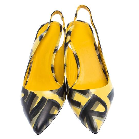 Burberry Leather Slingback Pointed Toe Yellow Sandals Image 2