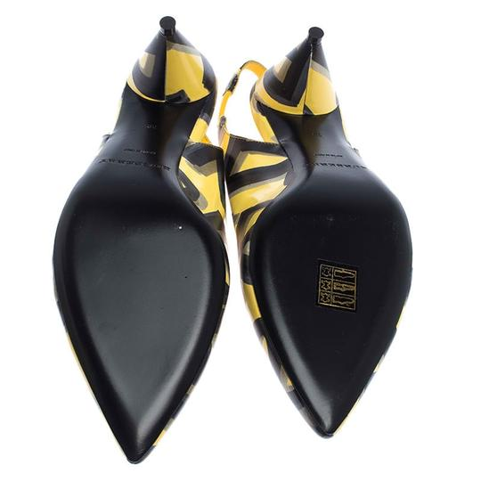 Burberry Leather Slingback Pointed Toe Yellow Sandals Image 5