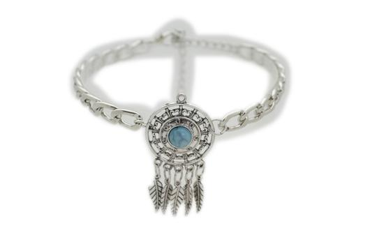 alwaystyle4you Women Western Boot Silver Metal Chain Western Shoe Charm Turquoise Image 11