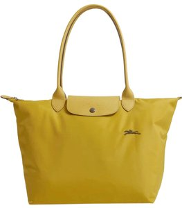 Longchamp Tote in yellow