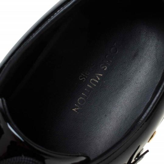 Louis Vuitton Patent Leather Leather Rubber Embellished Floral Black Athletic Image 6