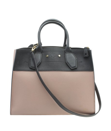 Preload https://img-static.tradesy.com/item/26331230/louis-vuitton-city-steamer-m53019-mm-beige-and-black-2-way-179431-pinkxblack-leather-tote-0-0-540-540.jpg