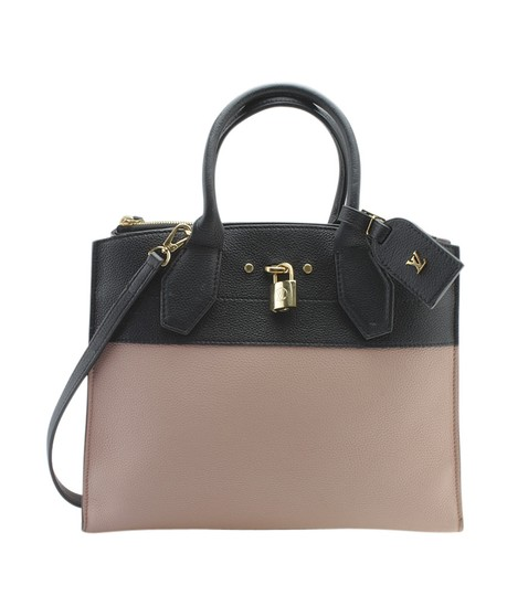 Louis Vuitton Leather Tote in PinkxBlack Image 10