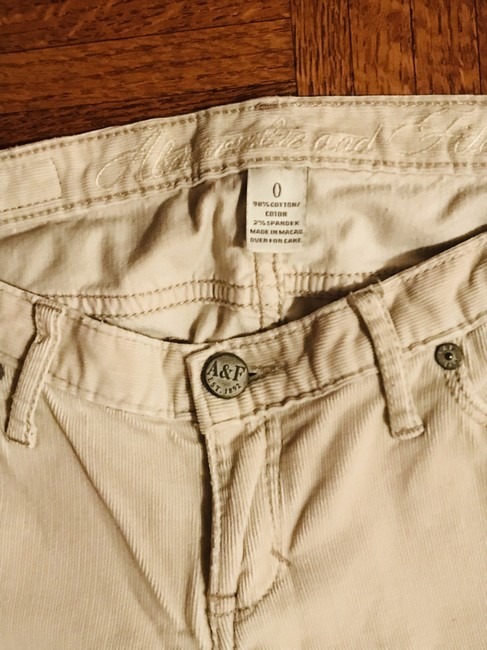 Abercrombie & Fitch Straight Pants Beige Image 2