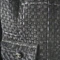 SEWN IN MY ATELIER JACKET ARTWORK NOTORIGINAL FABRIC TWEED & BUTTONS & LINING CHANEL Black Jacket Image 10