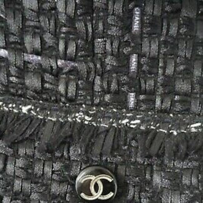SEWN IN MY ATELIER JACKET ARTWORK NOTORIGINAL FABRIC TWEED & BUTTONS & LINING CHANEL Black Jacket Image 11