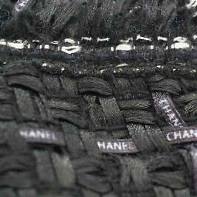 SEWN IN MY ATELIER JACKET ARTWORK NOTORIGINAL FABRIC TWEED & BUTTONS & LINING CHANEL Black Jacket Image 4
