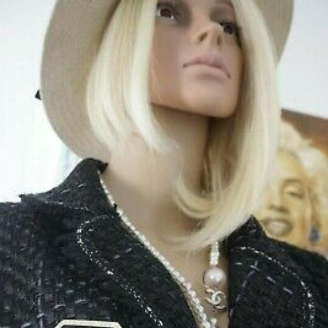 SEWN IN MY ATELIER JACKET ARTWORK NOTORIGINAL FABRIC TWEED & BUTTONS & LINING CHANEL Black Jacket Image 9