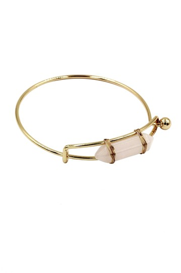 Ocean Fashion Fashion pink crystal golden bracelet Image 2