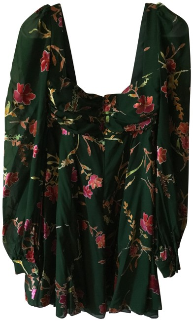 Preload https://img-static.tradesy.com/item/26331280/lovers-friends-green-with-pink-short-cocktail-dress-size-8-m-0-3-650-650.jpg