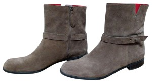 Franco Sarto Leather Suede Side Zip Casual Classic Brown Boots