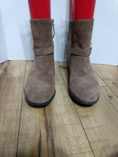 Franco Sarto Leather Suede Side Zip Casual Classic Brown Boots Image 2