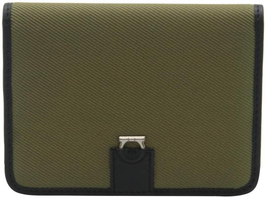 Preload https://img-static.tradesy.com/item/26331289/salvatore-ferragamo-black-green-canvas-and-leather-compact-flap-card-holder-wallet-0-10-540-540.jpg