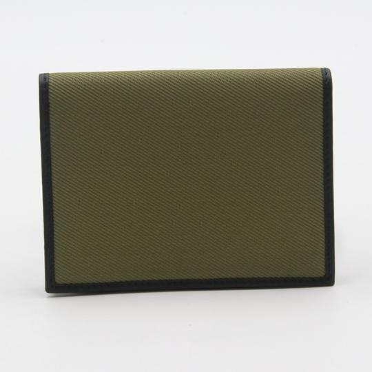 Salvatore Ferragamo Canvas and Leather Compact Flap Card Holder Wallet Image 3