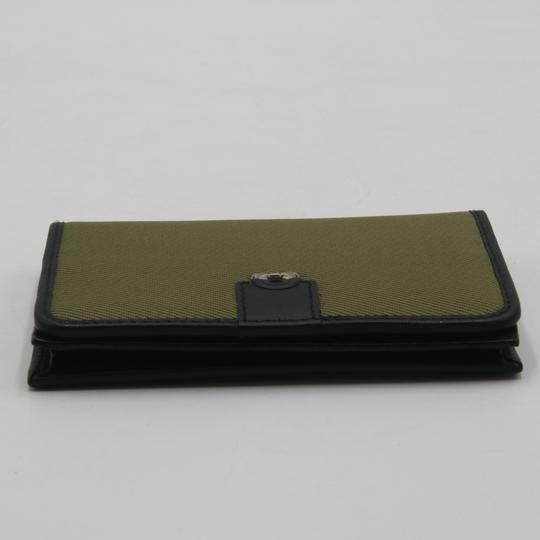 Salvatore Ferragamo Canvas and Leather Compact Flap Card Holder Wallet Image 4