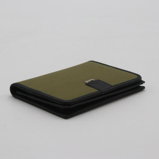 Salvatore Ferragamo Canvas and Leather Compact Flap Card Holder Wallet Image 5