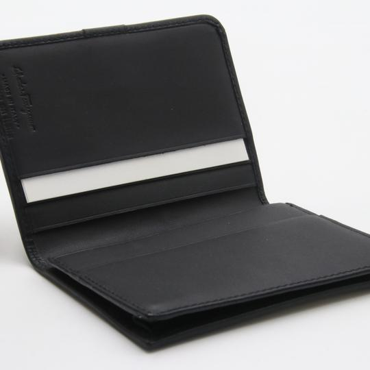 Salvatore Ferragamo Canvas and Leather Compact Flap Card Holder Wallet Image 7