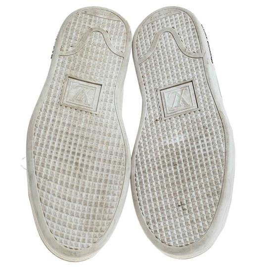 Louis Vuitton Metallic Leather Rubber Round Toe Silver Athletic Image 5