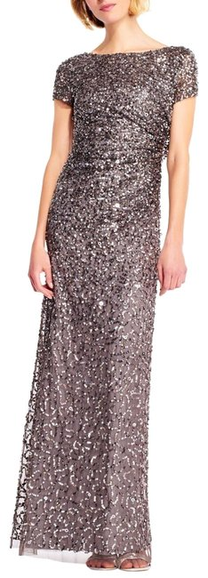Preload https://img-static.tradesy.com/item/26331306/adrianna-papell-lead-short-sleeve-sequin-beaded-gown-with-cowl-back-long-formal-dress-size-4-s-0-1-650-650.jpg