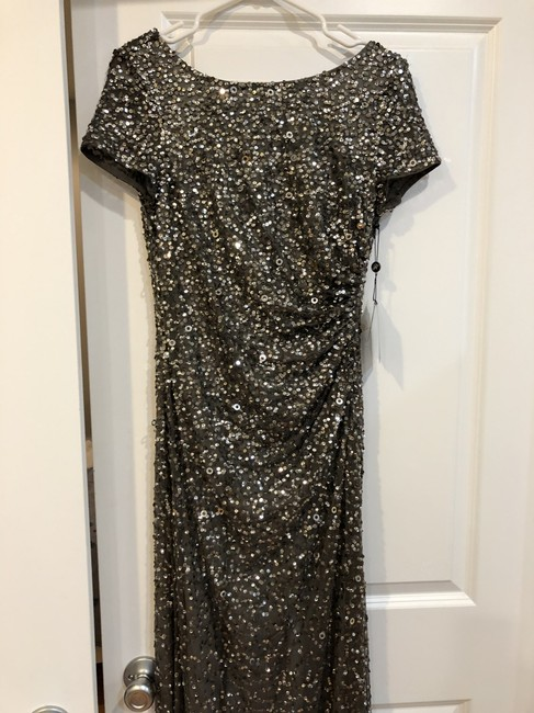 Adrianna Papell Sequin Gown Dress Image 5