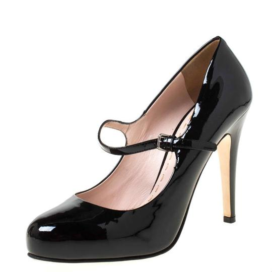 Miu Miu Patent Leather Leather Black Pumps Image 1