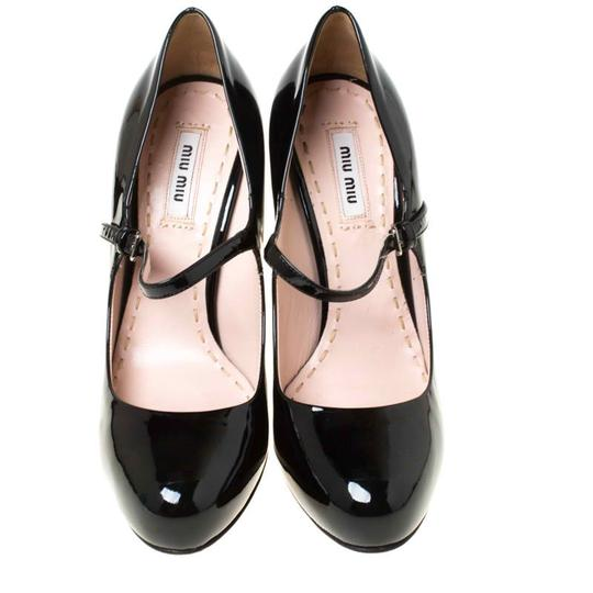Miu Miu Patent Leather Leather Black Pumps Image 2