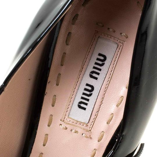 Miu Miu Patent Leather Leather Black Pumps Image 6