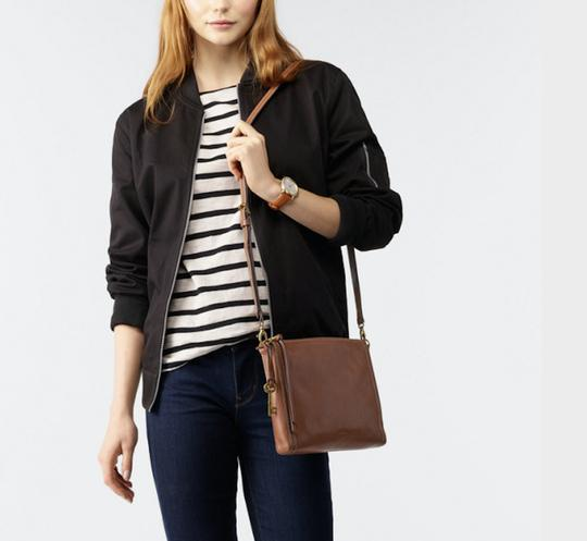 Fossil Vintage Leather Cross Body Bag Image 8