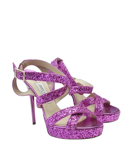 Jimmy Choo Leather Pink Sandals Image 1