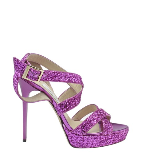 Jimmy Choo Leather Pink Sandals Image 2