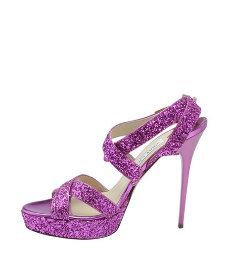 Jimmy Choo Leather Pink Sandals Image 3