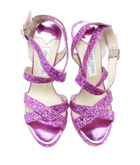 Jimmy Choo Leather Pink Sandals Image 4