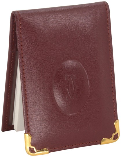 Preload https://img-static.tradesy.com/item/26331369/cartier-burgundy-red-grained-leather-double-c-embossed-bifold-compact-notepad-card-wallet-0-3-540-540.jpg