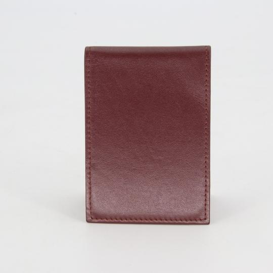 Cartier Grained Leather Double C Embossed Bifold Compact Notepad Card Wallet Image 3