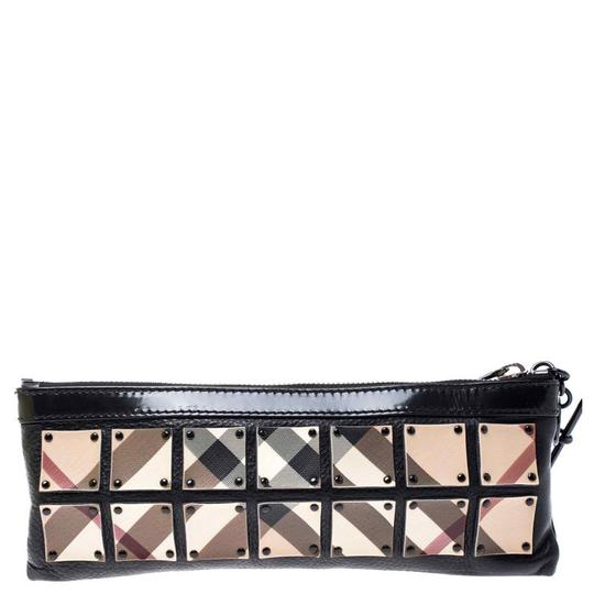 Burberry Canvas Leather Black Clutch Image 1