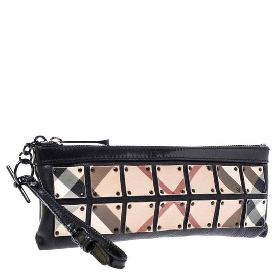 Burberry Canvas Leather Black Clutch Image 3
