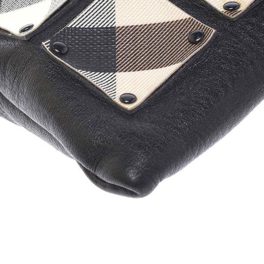 Burberry Canvas Leather Black Clutch Image 6