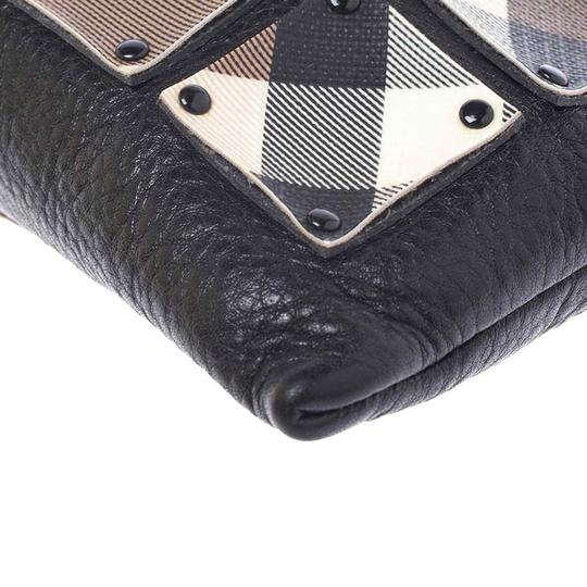 Burberry Canvas Leather Black Clutch Image 7