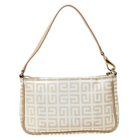 Givenchy Monogram Canvas Leather Beige Clutch Image 1