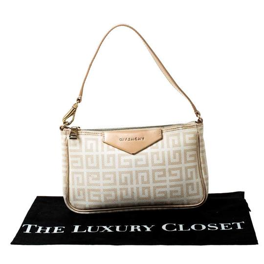 Givenchy Monogram Canvas Leather Beige Clutch Image 10