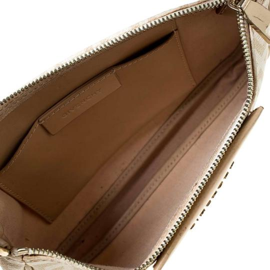 Givenchy Monogram Canvas Leather Beige Clutch Image 5