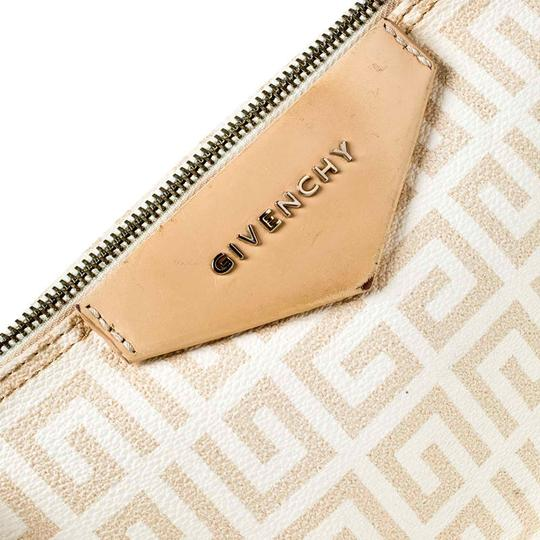 Givenchy Monogram Canvas Leather Beige Clutch Image 7
