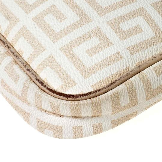 Givenchy Monogram Canvas Leather Beige Clutch Image 9