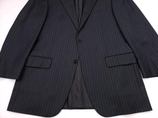 Hickey Freeman Gray Pinstriped 40r Suit Charcoal Blue Lindsey 2 Button Wool Shirt Image 10