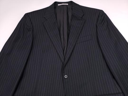Hickey Freeman Gray Pinstriped 40r Suit Charcoal Blue Lindsey 2 Button Wool Shirt Image 11