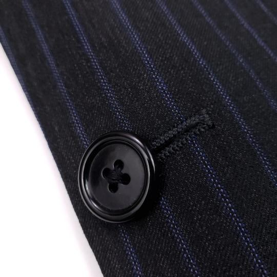 Hickey Freeman Gray Pinstriped 40r Suit Charcoal Blue Lindsey 2 Button Wool Shirt Image 7