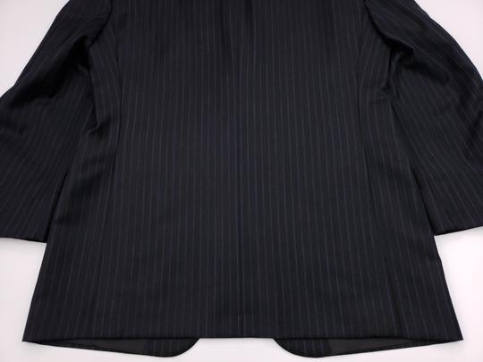 Hickey Freeman Gray Pinstriped 40r Suit Charcoal Blue Lindsey 2 Button Wool Shirt Image 8